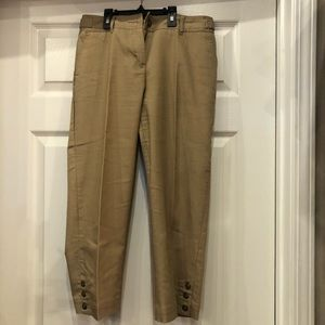 Cato Pants with accent buttons on the side size 4